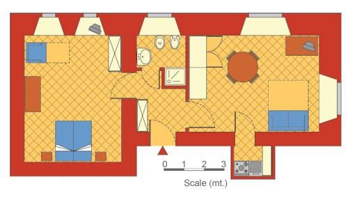 Схема квартиры AP12 Farnese.